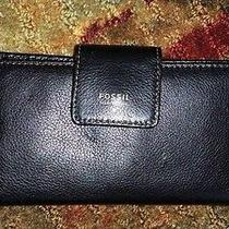 New Fossil Issue No. 1954 Black Medium Size Wallet - Free Shipping Photo