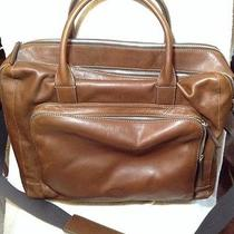 New Fossil Leather Computer/book Bag Soft Side Brown 20 X 17 X 4.25 Photo