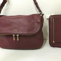 New Fossil Leather Crossbody Shoulder Bag and Sydney Zip Around Clutch Wallet  Photo