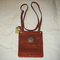 New Fossil Maddox Mini Laret Red Crossbody Leather Purse Sl3129599 Photo