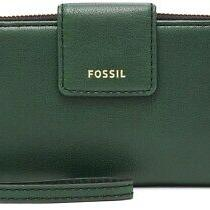 New Fossil  Madison Zip Clutch  Wristlet Wallet Green (Spruce) Nwt Photo