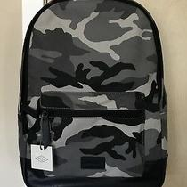 New Fossil Men's Grey Camouflage Estate Canvas Backpack Photo