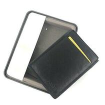 New Fossil Mens Neel Magnetic Card Case Black Leather With Clip Photo