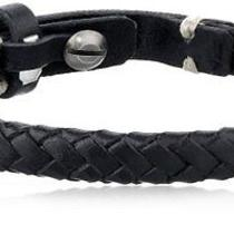New Fossil Mens Braided Black Bracelet Photo