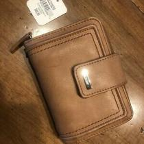 New Fossil Multifunction Women's Leather Clutch Saddle Wallet Brown Purse Photo