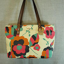 New Fossil Purse Hunter Shopper Floral Tote Bag Nwt Photo