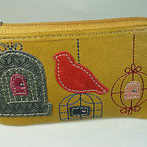 New Fossil Ruby Zip Coin Purse Leather Wallet-Great Gift or Gift Card Holder Photo