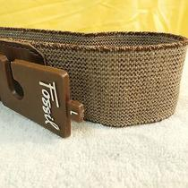 New Fossil Size L Brown Stretchy Belt Retails for 36.00  Photo