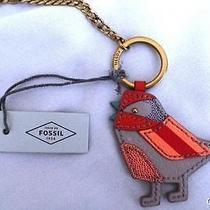New Fossil Sofia Birdie Keyfob - Brass Key Ring - 3