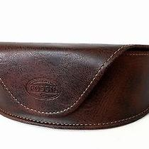 New Fossil Sunglasses Leather Case With Logo Brown Photo