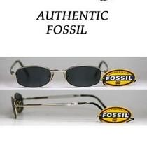 New Fossil Trimline Brush-Silver Metal Sunglasses W/gray Lenses for Under 30 Photo