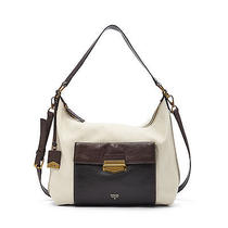 New Fossil Vickery Shoulder Bag Winter White Zb6680084 Msrp 248 Photo