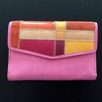 New Fossil Vintage Pink Genuine Leather Wallet Photo