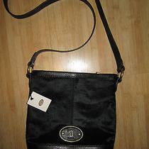 New Fossil Vri Tz Bucket Crossbody Handbag Bag 168 Leather Black Like Syle Photo