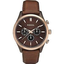 New Fossil Walter Leather Watch - Brown Photo
