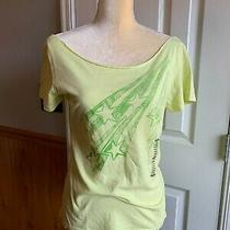 New Fossil Women's Size L Large Yellow Green Short Sleeve Tee Shirt Top Star Photo