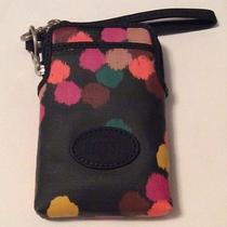 New Fossil Women's Wristlet Pouch Wallet Multi-Color Keyper Carry All Iphone Photo
