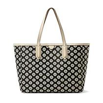 New Fossil Womens Sydney Tote Black/bone Bag Zb5492104 Photo
