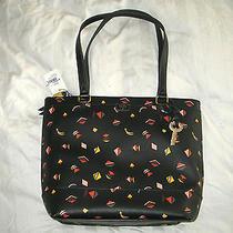 New Fossil Zb6689016 Leather Gift Shopper Bag - Black Multi Photo