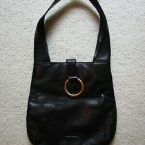 New  Franchi Black Leather Hobo Handbag  Shoulder Purse  Photo