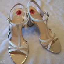 New Franco Sarto Ebba Blush Nude White Tan Sandals Strappy Shoes Size 10 M Photo