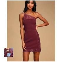 New Free People 88 Vetiver Bloom Maroon Premonitions Bodycon Dress Size Medium Photo