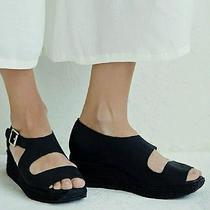 New Free People Jeffrey Campbell Black Nubuck Espadrille Wedge Shoes  7.5 Photo