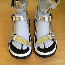 New Free People Jeffrey Campbell Ibiza Last Silver Sport Sandals Zip or Clip Photo