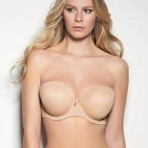 New Freya Aa4233 Nude Deco Molded Strapless T-Shirt Bra Uk 32f Seamless Plunge Photo