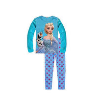New Frozen Anna Elsa Pajamas Boys Girls Top  Leggings Kids Nightwear Sleepwear Photo