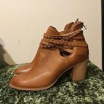 New Frye Naomi Pickstitch Shootie Camel Brown Leather Ankle Booties Boots 9.5 Photo