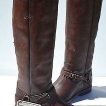 New Frye Phillip Ring Tall Whiskey Brown Leather Boots Size 8.5 B  Photo