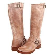 New Frye  Veronica Slouch  Tan Burnished Antiqued Leather Womens  8 Photo