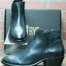 New Frye Women Carson Piping Bootie Black Leather Shoes Boots 78253 Size 10 M Photo