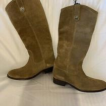 New Frye Women's Size 8 Cashew Tan Melissa Tall Suede Button Boot  Retail -368 Photo