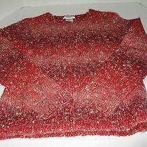New Fun Talbots Ps Cranberry Splash of Fun Multi Color Boat Neck Sweater  Photo