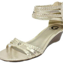 New G by Guess Women's Intrest Wedge Sandals Gold Size-10m Photo