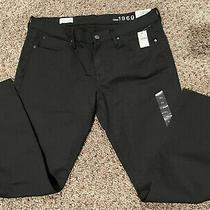 New Gap 1969 Black Skinny Jeans  Mid Rise Size 31 Short Nwt Photo