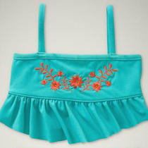New Gap Bathing Suit Swimsuit Top Only Bikini Floral Size 3 Aqua Cabana Summer  Photo