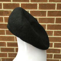 New Gap Beret Kids Black Wool Blend Felt Hat Small / Medium  Photo