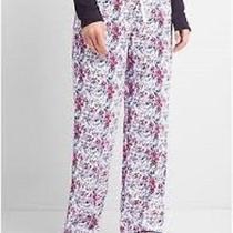 New Gap Body Womens Cozy Flannel Lounge Pjs Pants Floral Drawstring Xs S M Nwt Photo
