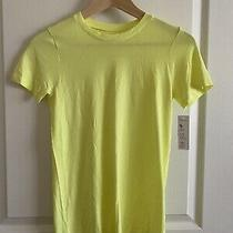 New Gap Fit Motion Short Sleeve Running Shirt Xs Neon Yellow Photo