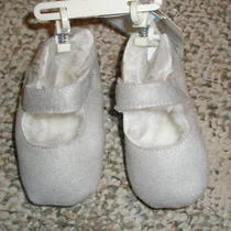 New Gap Girls Sparkly Shearling Shoes Slippers 6-12 M Photo