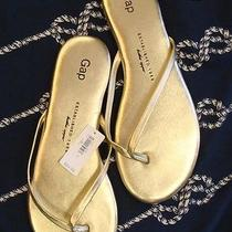 New Gap Golden Metallic Flip Flops Sandals Photo