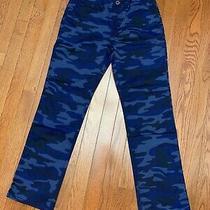 New Gap Kids Boys 12 Husky Blue Camo Pants Adjustable Waist Photo