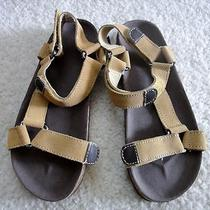 New Gap Kids Boys Gladiator Style Cork Leather Sandals Shoes 5 Youth Nwt 25 Photo