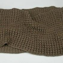 New Gap Knit Wool Blendinfinity Scarf in Chestnut Brown Photo