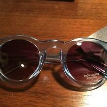 New Gap Light Blue Plastic Flat Round Lens Sunglasses 100% Uva Uvb Mens Gift Photo