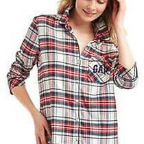 New Gap Pendleton Womens Soft Cotton Flannel Plaid Pajama Pjs Button Top S 4 M 8 Photo