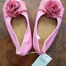New Gap Pink Sz 8 Toddler Ballet Flats Ribbon Flower 8t Nwt Babygap Photo